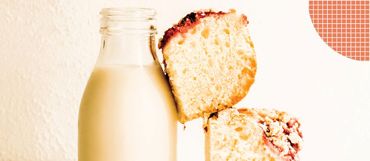 Milk and pound cake