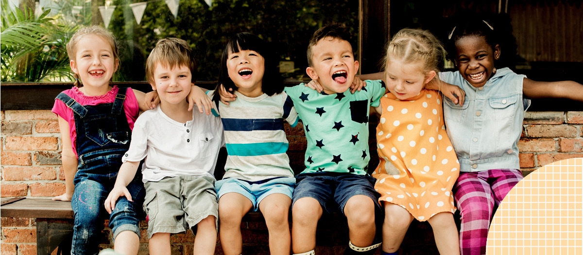 Kids smiling and laughing together