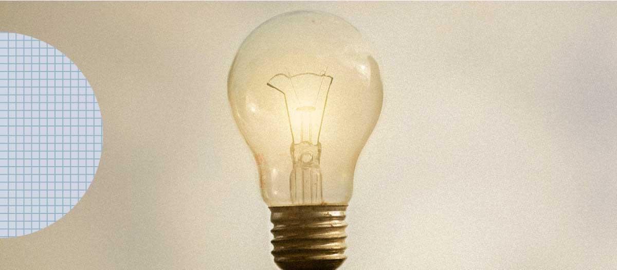 Lightbulb glowing