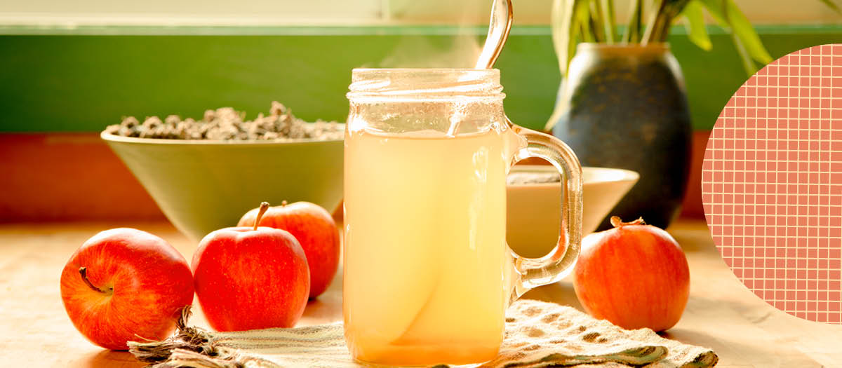 Apple Cider drink on a table
